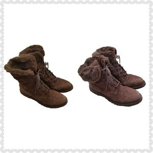 Rockport Waterproof Leather Faux Fur Boots 10M